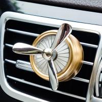 IROOTS 艾璐斯创意车载香水精油汽车空调出风口香薰车用香水夹除异味 金色 江南香型