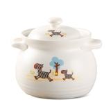 泥火匠 汤煲 陶瓷 小斑马 3.5L如意汤煲 釉中彩耐热砂锅 汤锅炖锅