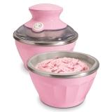 美国·汉美驰(Hamilton Beach)68552-CN 冰淇淋机(粉色双碗)家用软冰激凌机