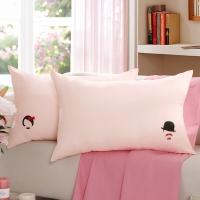 LOVO罗莱生活出品枕芯 双人枕头一对装MR&MRS情侣对枕 47*73cm