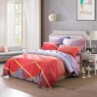 LUOLAI罗莱家纺 205纱支纯棉四件套 全棉床上用品床品套件床单被罩 WA5056曼城时光 200*230