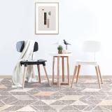 佳佰 北歐簡約百搭條紋幾何客廳地毯 臥室床邊毯-粉灰魚骨紋-JB-M-02 160CM*230CM
