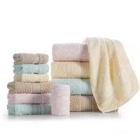 LOVO 罗莱生活出品 维尔莉特全棉进口毛浴巾三件套 粉色
