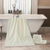 梦洁家纺出品 MAISON 浴巾 土耳其进口浴巾 加厚吸水 曼城故事 米白 70*140cm