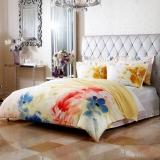 梦洁家纺(MENDALE)床品套件 纯棉印花四件套 床单被罩 国韵丹青 1.8米床 248*248cm