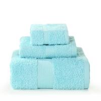 LOVO 罗莱生活出品 艾米莉娅埃及棉进口加厚毛浴巾三件套X 湖蓝色
