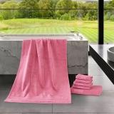 梦洁家纺出品 MAISON 浴巾 土耳其进口浴巾 加厚吸水 曼城故事 玫红 70*140cm