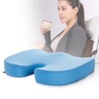 汉妮威 记忆棉 慢回弹坐垫 椅子垫 加厚透气网布垫 飘窗台垫 8C1081621 浅蓝色