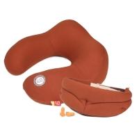 吉吉(GiGi)汽车U型枕头枕护颈枕 G-1333太空记忆棉飞机旅行枕 午休枕3件套 咖色