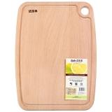 达乐丰 榉木砧板 实木菜板 家用案板带水槽JM4030(40*30*2CM)