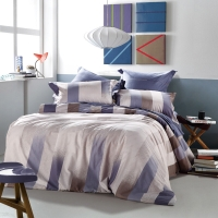 SAINTMARC罗莱出品 198纱支纯棉四件套 全棉床上用品床品套件床单被罩 幻化 200*230