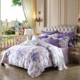 梦洁家纺出品 MAISON 床品套件 60支长绒棉印花四件套 床单款 海伦娜花园 1.5米床 200*230cm