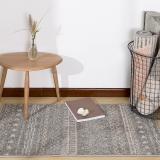 佳佰 现代北欧简约时尚条纹客厅茶几地毯 卧室床前毯 雅士灰纹-JB-M-04-01 60CM*110CM