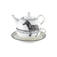 佳佰 茶具套装斑马拾趣系列茶具壶杯套装三件套