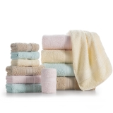 LOVO 罗莱生活出品 维尔莉特全棉进口毛浴巾三件套 蓝色