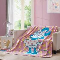 LOVO罗莱生活出品 办公室空调毯子法兰绒盖毯 迷你点点 150*200cm