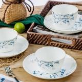 SKYTOP斯凯绨 碗盘碟陶瓷日式骨瓷餐具套装 8头摇曳