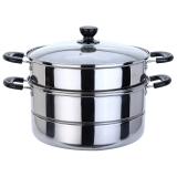 美厨(maxcook) 二层蒸锅 精惠系列28CM 不锈钢 MDZ-28 (可用电磁炉 可蒸可煮)
