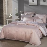 梦洁家纺出品 MAISON 床品套件 提花四件套 床单被罩 兰夏 杏 1.8米床 248*248cm