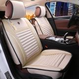 布雷什(BOLISH)四季通用汽车坐垫 皮革汽车座垫 五座通用车坐套 标准款 温馨米