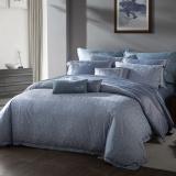 梦洁家纺出品 MAISON 床品套件 提花四件套 床单被罩 兰夏 蓝灰 1.5米床 200*230cm