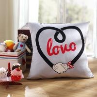 迪士尼(Disney) 抱枕靠垫 时尚米妮系列靠垫-爱LOVO 50*50cm