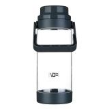 富光 途胜系列塑料杯 大容量便携男女士水杯子 户外运动水壶冷水壶 防漏创意茶水杯子 1500ml 灰色