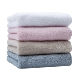 佳佰毛巾自营四条礼袋套装全棉超柔棉吸水速干素雅(粉、白、米、蓝各一条)