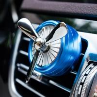 IROOTS 艾璐斯創意車載香水精油汽車空調出風口香薰車用香水夾除異味 藍色 挪威森林香型