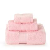 LOVO罗莱生活出品 进口埃及棉加厚 毛浴巾三件套 艾米莉娅粉
