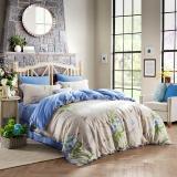 LOVO罗莱生活出品 全棉四件套纯棉贡缎 床上用品床品套件床单被罩西堤花庭200*230cm