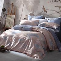 梦洁家纺出品 MAISON 床品套件 高支高密色织提花四件套 荷韵 1.8米床 248*248cm
