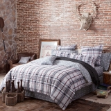 多喜爱(Dohia)床品套件 全棉斜纹四件套 床单款 慕格 双人 1.5米床 200*230cm