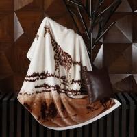 梦洁家纺(MENDALE)毯子 午睡盖毯空调毯 办公室沙发休闲毯 鲁士风情 长颈鹿 150*200cm