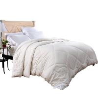 富安娜(FUANNA)家纺四季被子 纯棉单人 珍芯澳洲羊毛被 冬厚被1.2米床适用(152cm*210cm)