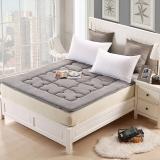 优雅100(uya100)床垫家纺 加厚珊瑚绒床垫 榻榻米褥子 床护垫 灰色 1.5米床 150*200cm