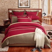 LOVO罗莱生活出品四件套纯棉 美式风格床上用品四件套 床品套件床单被罩 吉诺200*230cm