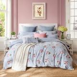 梦洁家纺出品 MEE 床品套件 纯棉印花清新素雅四件套 全棉床单被罩 甜馨 1.8米床 220*240cm