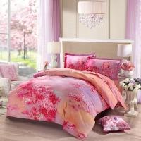 LUOLAI罗莱家纺 纯棉四件套 全棉床品套件床上用品床单被套 AY1067-4 200*230