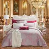 梦洁家纺(MENDALE)床品套件 提花四件套 欧式优雅床单被罩 维多利亚的秘密 1.8米床 248*248cm