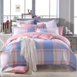 多喜爱(Dohia)床品套件 全棉条格简约双人加大四件套 床单款 英伦时光 1.5米床 200*230cm