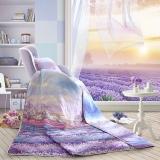 LOVO罗莱生活出品 空调被 全棉水洗夏被 爱在普罗旺斯薄被 150*215cm