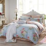 多喜爱(Dohia)床品套件 全棉斜纹双人四件套 床笠款 米拉贝尔 1.5米床 200*230cm