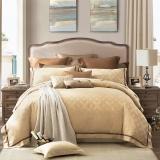 LOVO罗莱生活出品 天丝棉提花四件套 轻奢床品套件床单被罩安德鲁200*230cm