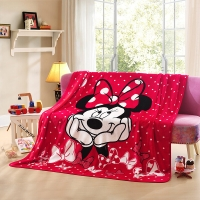 LOVO罗莱生活出品 卡通盖毯办公室休闲毯床单毯 时尚米妮150*200cm