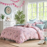 梦洁家纺出品 DreamCoCo 床品套件 水洗棉四件套 床单被套 牛奶盒子 1.8米床 220*240cm
