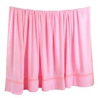 竹之锦 床品家纺 竹纤维经编纯色毛巾被毯子四季毯 粉色 180×200cm