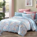 梦洁家纺出品 MAISON 床品套件 纯棉印花四件套 床单款 米兰微风 1.5米床 200*230cm