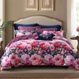 梦洁家纺出品 MAISON 床品套件 纯棉印花四件套 全棉床单被罩 香榭花都 1.5米床 200*230cm