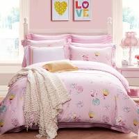 梦洁家纺出品 MINI MEE 床品套件 纯棉斜纹四件套 儿童床单被罩 蜜糖甜心 1.5米床 200*230cm